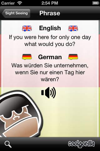 German Talking Phrasebook screenshot 4