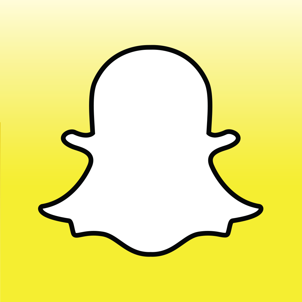 Snapchat logo - outline of ghost, no face