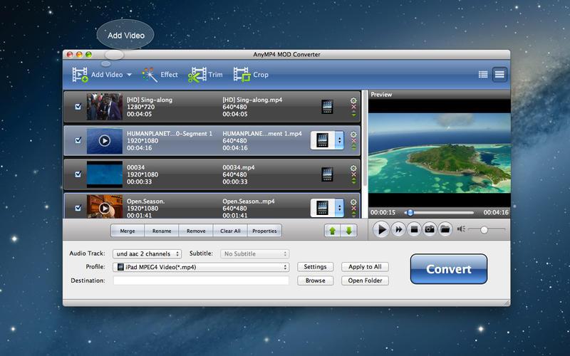 "AnyMP4 MOD Converter - MOD 格式视频转换软件[OS X]丨""反""斗限免"