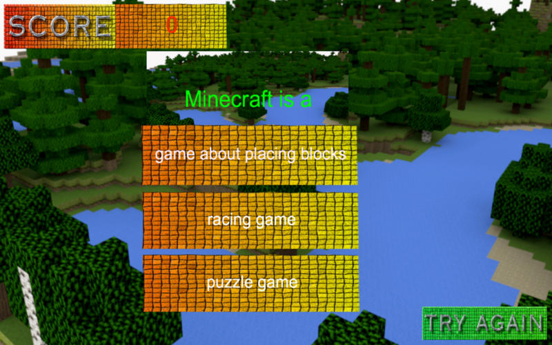 Quiz for Minecraft Players Screenshot - 1