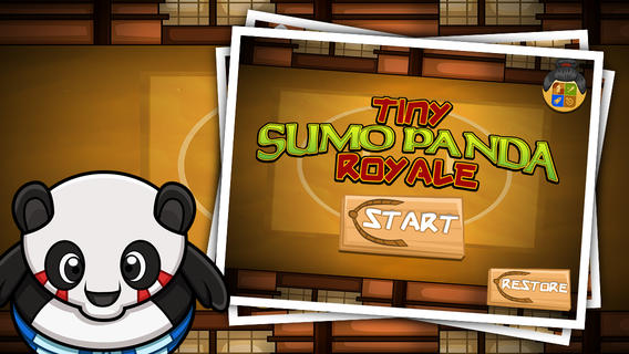 Tiny Sumo Panda : Ninja bear Royal whipeout tap fighting games for Iphone Ipad Ipod touch