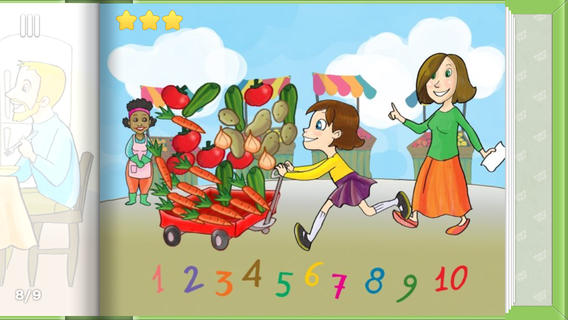 Making Salad - learn counting with vegetables
