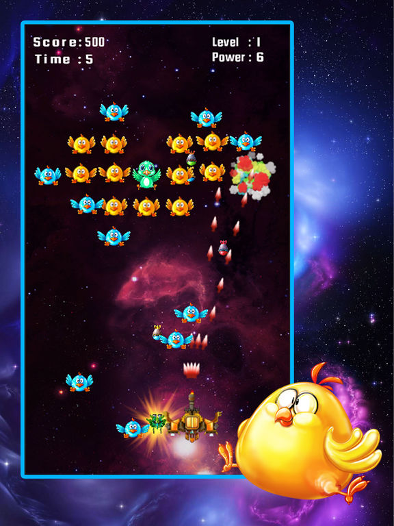 Screenshots of Space Attack: Chicken Shooter for iPad