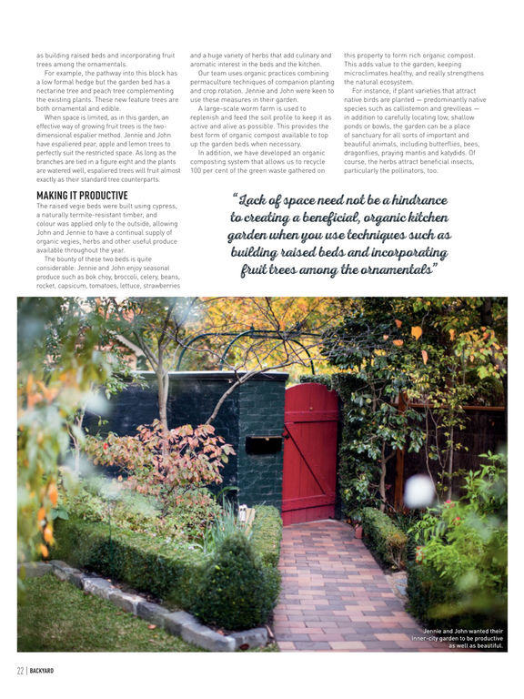 Backyard and garden design ideas australia s best for Garden design subscription