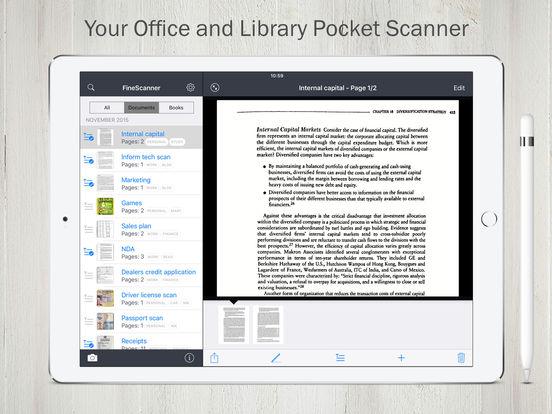 FineScanner PRO. Скрин 2