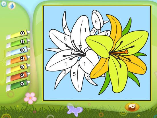 Скачать игру Раскрась по номерам - Цветы - Бесплатно