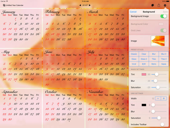 All-in-One Year Calendar (Planner) – Sync, Events, Markups, Notes, Holidays, Birthdays, Fiscal Week Numbers, ... iPad Screenshot 5