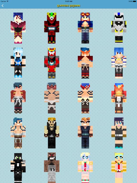 скины на майнкрафт 1.7.10 аниме персонажей #6