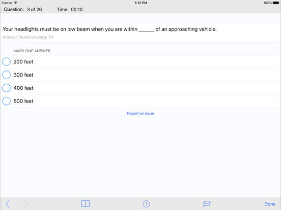 DMV Test Prep - Michigan iPad Screenshot 3