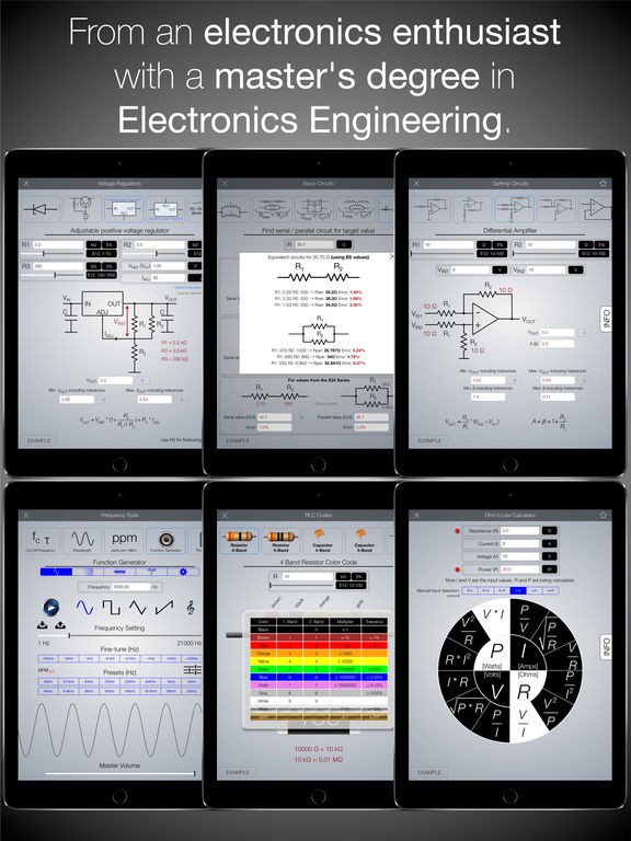 Electronics Engineering ToolKit PRO for iPad Screenshots