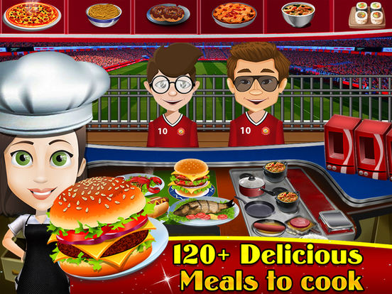 Soccer Stadium Fast-Food Cafeteria : Play best Master-Chef Ham-burger & Pizza Cooking Restaurantscreeshot 2