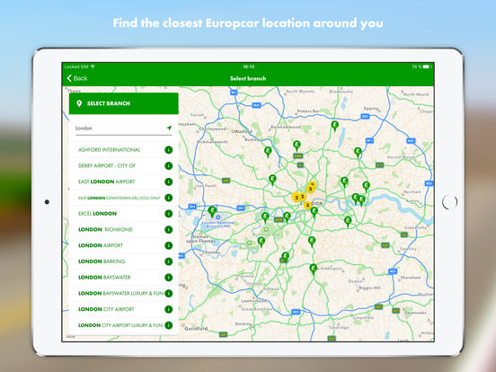 Europcar iPad Screenshot 5