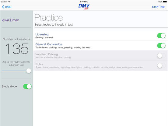 DMV Test Prep - Iowa iPad Screenshot 2