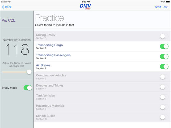 CDL Test Prep Pro (Commercial Driver's License) iPad Screenshot 2