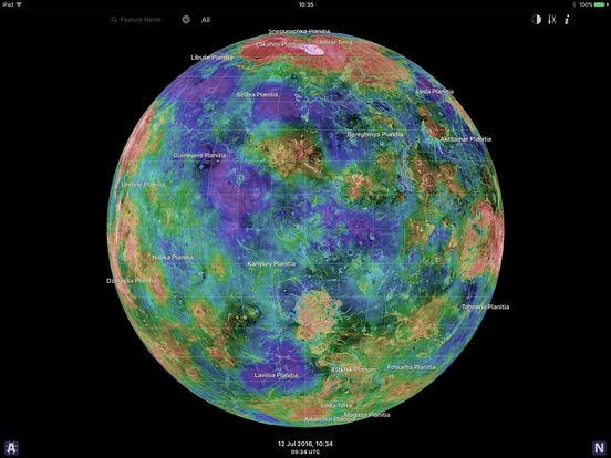 Venus Atlas iPad Screenshot 1