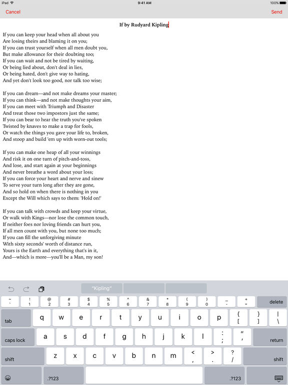 PoemBrew screenshot
