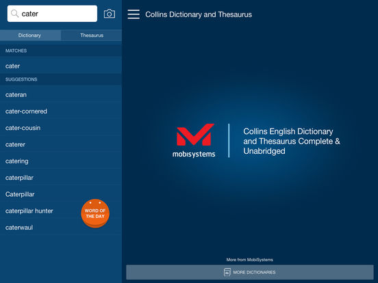 Collins English Dictionary and Thesaurus Complete Screenshots