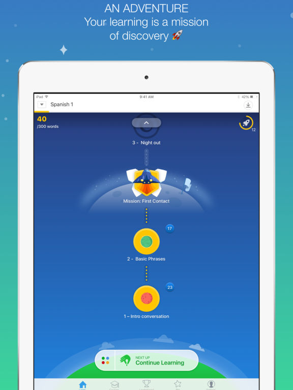 Screenshots of Memrise: learn languages free for iPad
