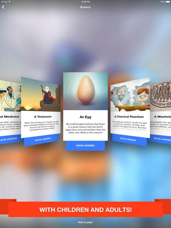 Lateral thinking puzzles Screenshots
