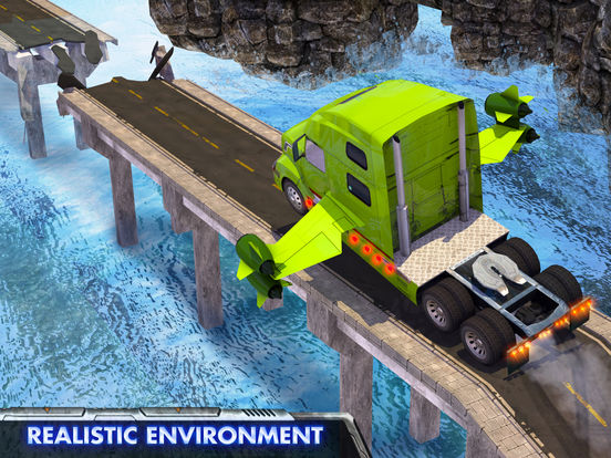 Скачать игру Modern Flying Truck Sim 3D