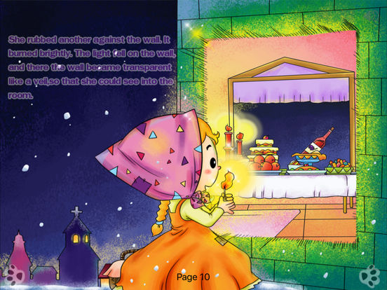 iBigToy Interactive Book-The Little Match Girl HD iPad Screenshot 5