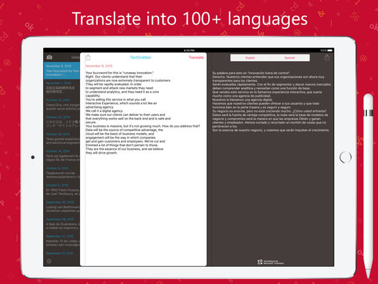 TextGrabber – image to text: OCR & translate photo Screenshots