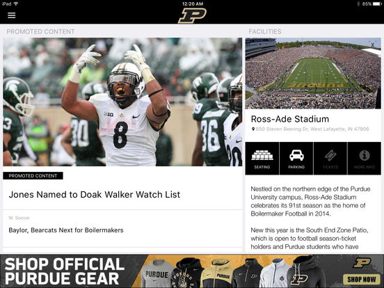 Purdue Sports iPad Screenshot 4