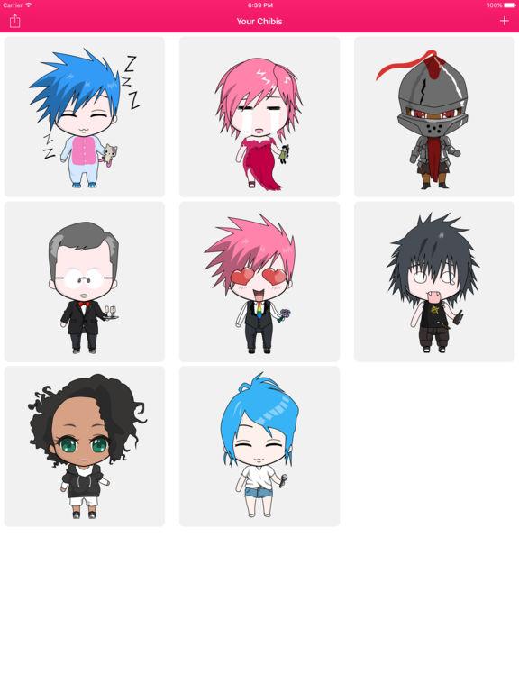 ChibiStudio for iMessage lets users create cute characters with friends Image