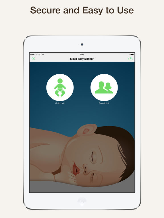 cloud baby monitor video audio unlimited range on the app store. Black Bedroom Furniture Sets. Home Design Ideas