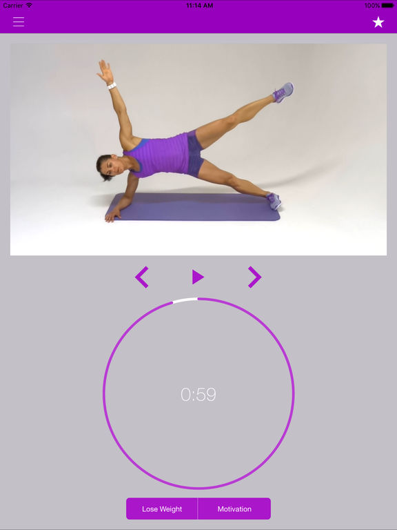 Plank Exercise Challenge and Flat Belly Workout Screenshots