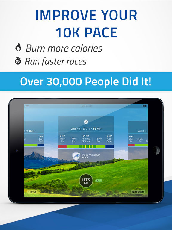 10K Pacer: Run pace training. Run faster Screenshots