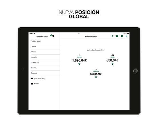 BancoUrquijo iPad Screenshot 1