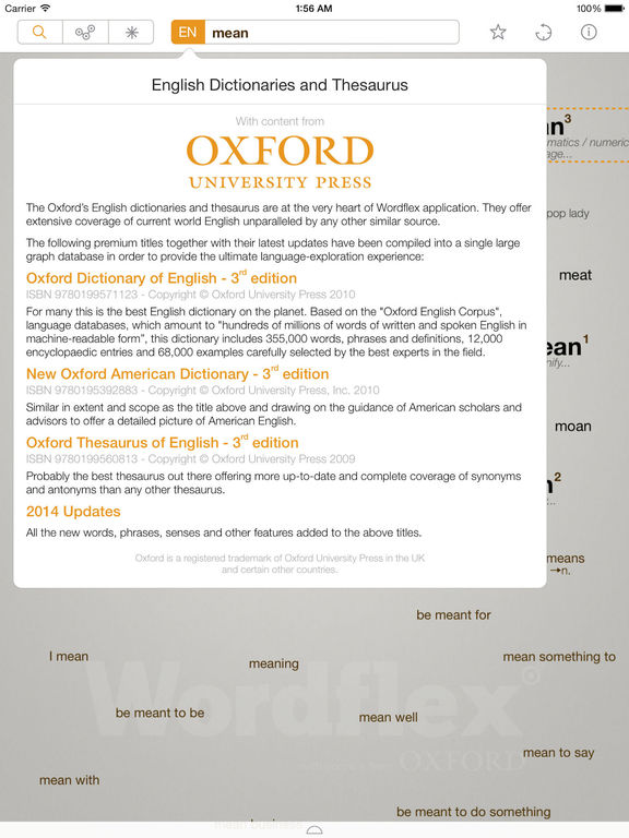 Wordflex Touch Dictionary Screenshots