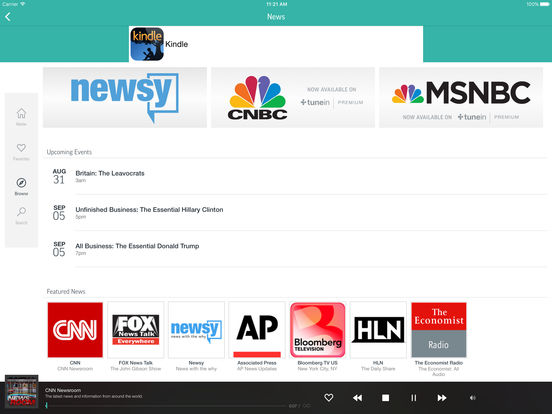 TuneIn Radio - Streaming for NFL, MLB, NHL, Audiobooks, News, Talk, Podcasts & Music Screenshots