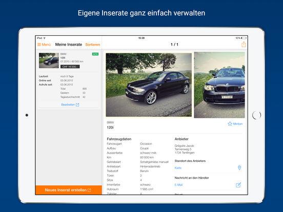 AutoScout24 – Online-Plattform für Occasionen und Neuwagen in der Schweiz iPad Screenshot 4