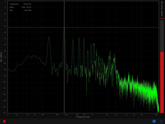 Audio Spectrum Screenshots