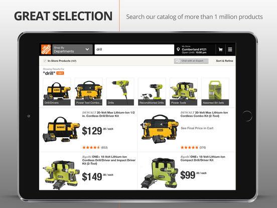 The Home Depot iPad Screenshot 2