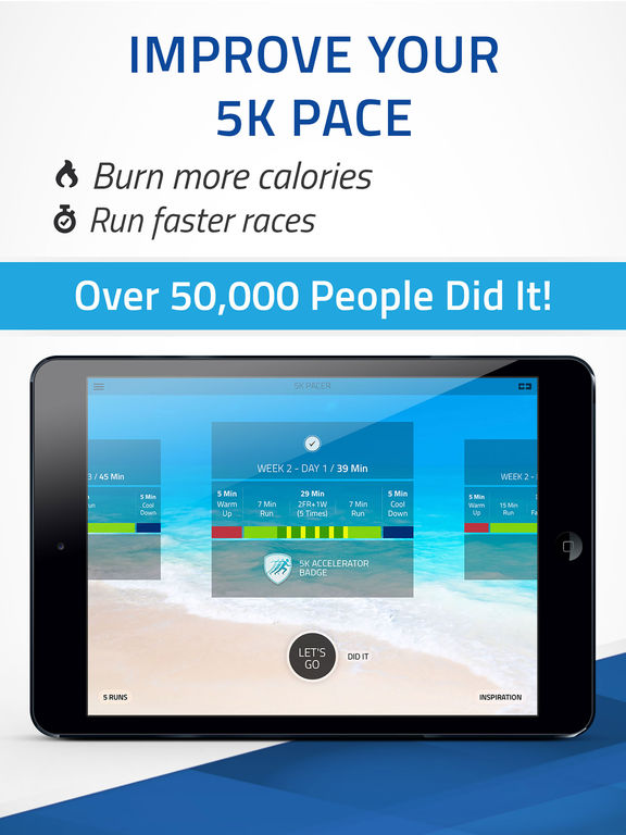 5K Pacer: Run pace training, Run faster Screenshots