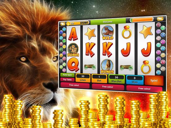 Safari Golden King Lion & Way Tiger Slotsscreeshot 1
