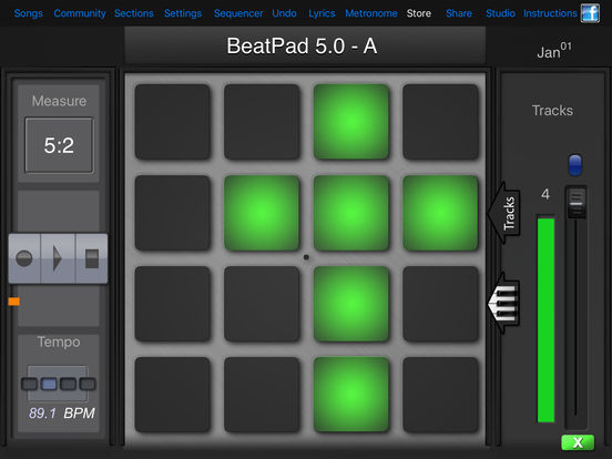 BeatPad iPad Screenshot 1