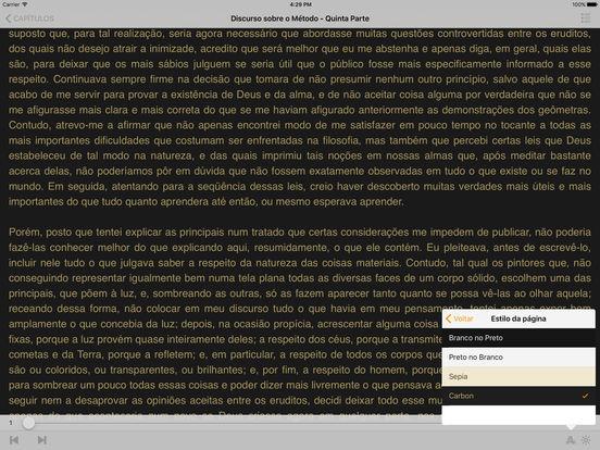 Discurso sobre o Método - René Descartes (Português) iPad Screenshot 2