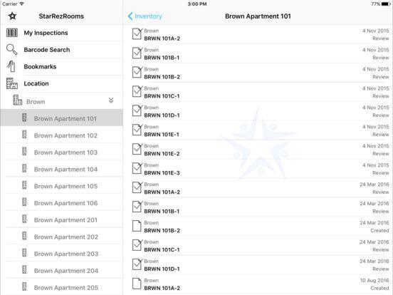 StarRezRooms iPad Screenshot 2