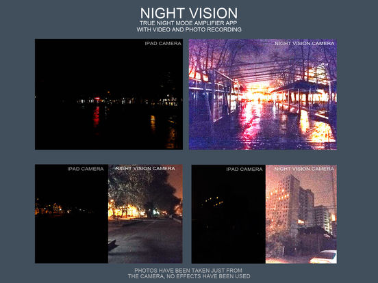 Night Vision (True night mode amplifier app with video and photo recording) Screenshots