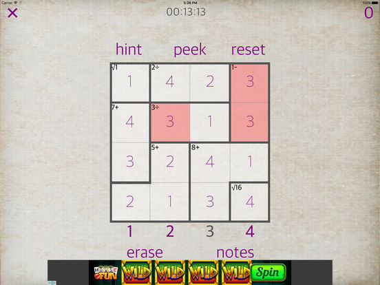 Sudoku Math iPad Screenshot 2