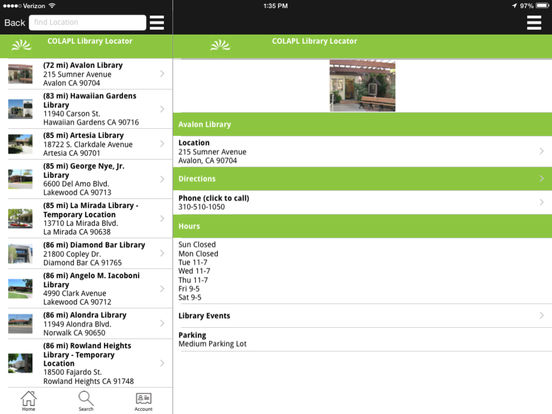 LACountyLib iPad Screenshot 2