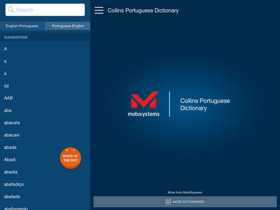 Collins Portuguese Dictionary iPad Screenshot 1