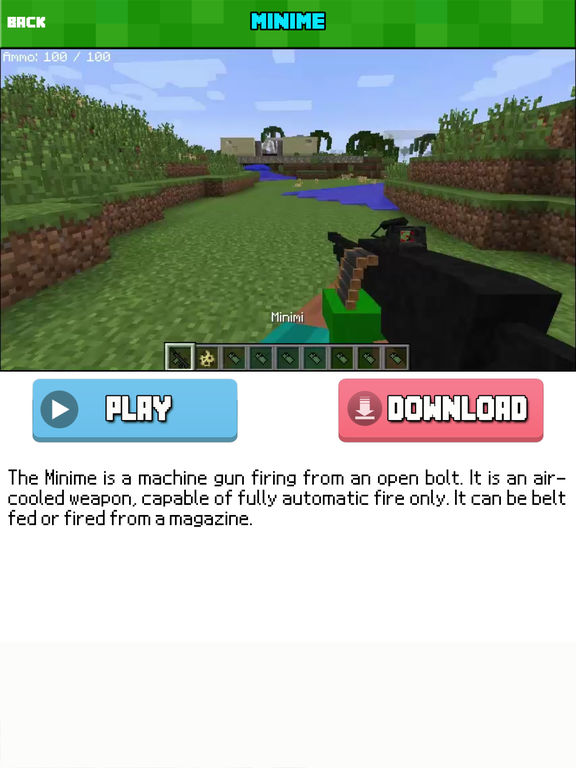 GUN MOD FREE - Weapon & War Gun For Minecraft Game PC Edition-ipad-0