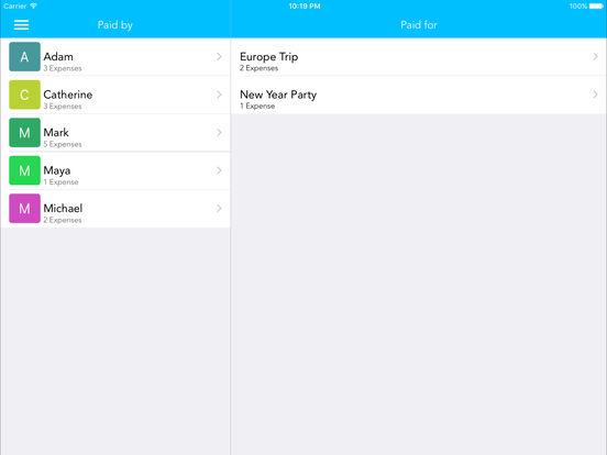 Group Expense iPad Screenshot 5
