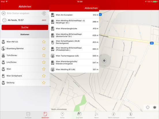 ÖBB - SCOTTY mobil iPad Screenshot 3
