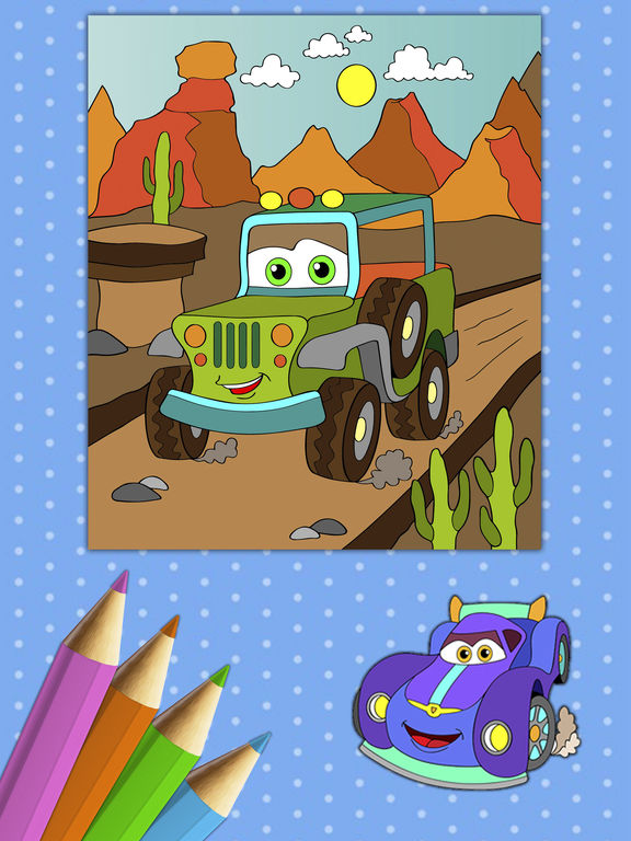 Автомобили Книжка-раскраска - краски Autos Скриншоты9